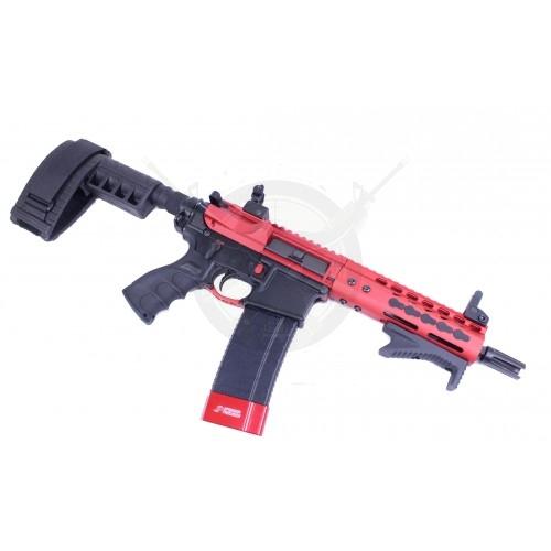 AR-15 STRIPPED BILLET UPPER RECEIVER RED