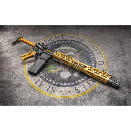 Ar 15 Gen 2 Trump Series Maga Furniture Set Anodized Gold