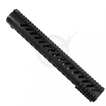"""15"""" Free Float Handguard With Sectional Side/Bottom Rails"""