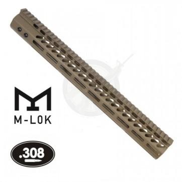 "16.5"" ULTRA LITE M-LOK FREE FLOAT HANDGUARD .308 CAL FDE"