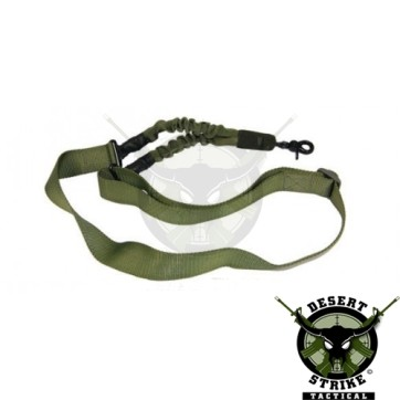 One Point Bungee Sling With QD Snap Hook OD Green