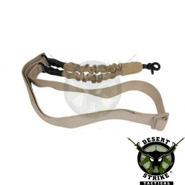 One Point Bungee Sling With QD Snap Hook Desert Tan