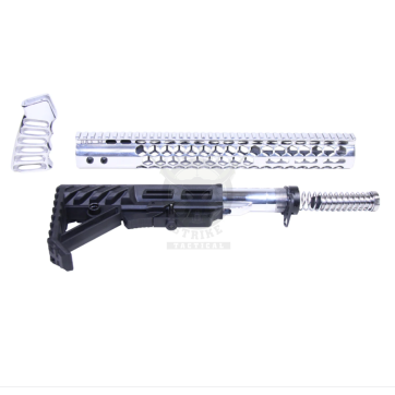 AR-15 HIGH POLISH HONEYCOMB M-LOK SERIES FURNITURE SET (GEN 2)