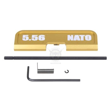 AR-15 EJECTION PORT DUST COVER ASSEMBLY (GEN 3) (W/ LASERED 5.56 NATO)(ANODIZED GOLD)