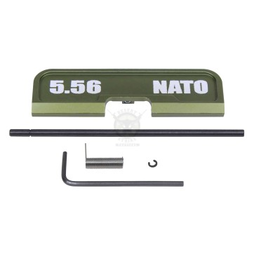 AR-15 EJECTION PORT DUST COVER ASSEMBLY (GEN 3) (W/ LASERED 5.56 NATO)(ANODIZED GREEN)