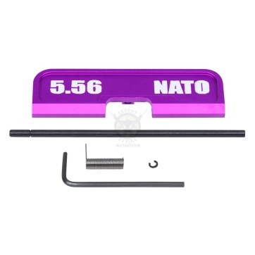 AR-15 EJECTION PORT DUST COVER ASSEMBLY (GEN 3) (W/ LASERED 5.56 NATO)(ANODIZED PURPLE)