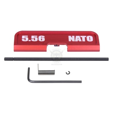 AR-15 EJECTION PORT DUST COVER ASSEMBLY (GEN 3) (W/ LASERED 5.56 NATO)(ANODIZED RED)