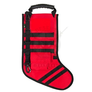 RUCKUP RUXMTSR Tactical Christmas Stocking, Full, Fire Red