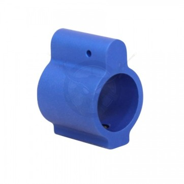 AR15 ALUMINUM LOW PROFILE .750 GAS BLOCK BLUE