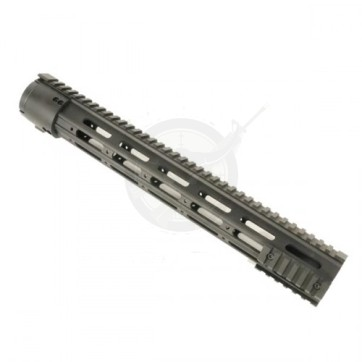 """15"""" Thin Profile Free Floating Handguard With Removable Rails & Monolithic Top Rail"""