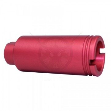 AR-15 Slim Line Cone Flash Can Anodized Red