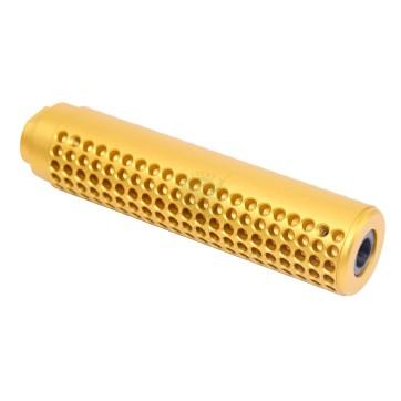 AR Reverse Thread Slip Over Socom Fake Suppressor 1/2 x 28 Anodized Gold