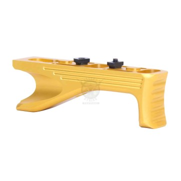 ALUMINUM ANGLED GRIP FOR M-LOK SYSTEM GEN 2 ANODIZED GOLD