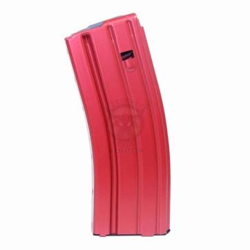 AR 5.56 CAL ALUMINUM 30 RND MAG WITH ANTI-TILT FOLLOWER ANODIZED RED