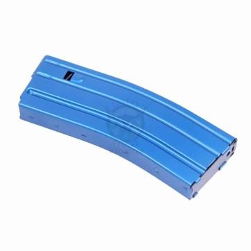 AR 5.56 CAL ALUMINUM 30 RND MAG WITH ANTI-TILT FOLLOWER (ANODIZED BLUE)