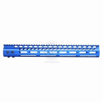 "15"" ULTRA LIGHT M-LOK FREE FLOAT HANDGUARD ANODIZED BLUE"