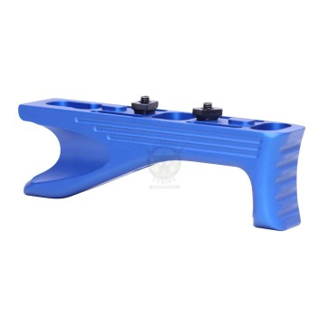 ALUMINUM ANGLED GRIP FOR M-LOK SYSTEM GEN 2 ANODIZED BLUE