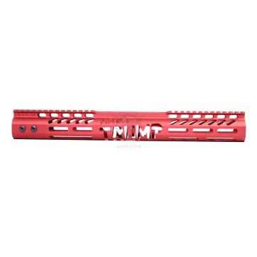 "AR-15 TRUMP 15"" FREE FLOAT M-LOK HANDGUARD GEN 2 ANODIZED RED"