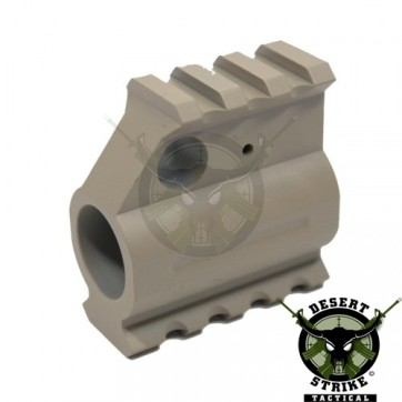 AR15 ALUMINUM RAIL HEIGHT GAS BLOCK FDE