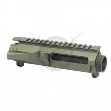 AR15 STRIPPED BILLET UPPER RECEIVER ANODIZED GREEN