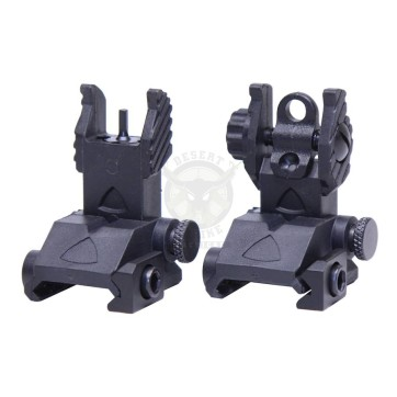 AR-15 EZ SIGHTS Thin Profile Polymer Back Up Iron Sight Set