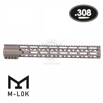 15″ AIR-LOK SERIES M-LOK COMPRESSION FREE FLOAT .308 CAL FDE