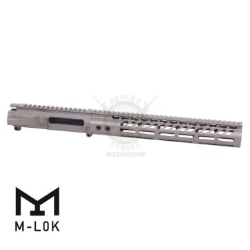 AR-15 STRIPPED BILLET UPPER RECEIVER & 12″ ULTRALIGHT M-LOK HANDGUARD COMBO SET FDE