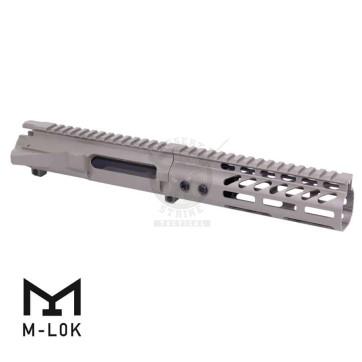 AR-15 STRIPPED BILLET UPPER RECEIVER & 7″ ULTRALIGHT M-LOK HANDGUARD COMBO SET FDE