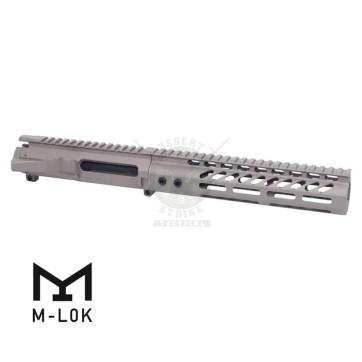 AR-15 STRIPPED BILLET UPPER RECEIVER & 9″ ULTRALIGHT M-LOK HANDGUARD COMBO SET FDE