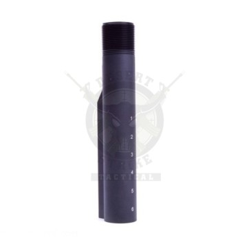 AR-15 MIL-SPEC LASERED BUFFER TUBE WITH CASTLE NUT & ENDPLATE