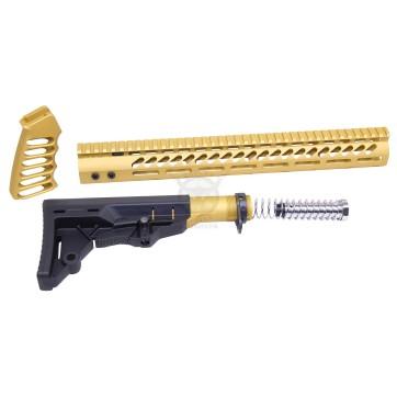AR-15 ULTRALIGHT FURNITURE SET GOLD