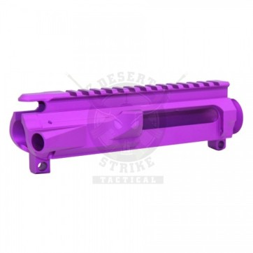 AR15 STRIPPED BILLET UPPER RECEIVER ANODIZED PURPLE