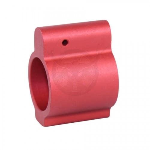 AR15 ALUMINUM LOW PROFILE .750 GAS BLOCK RED