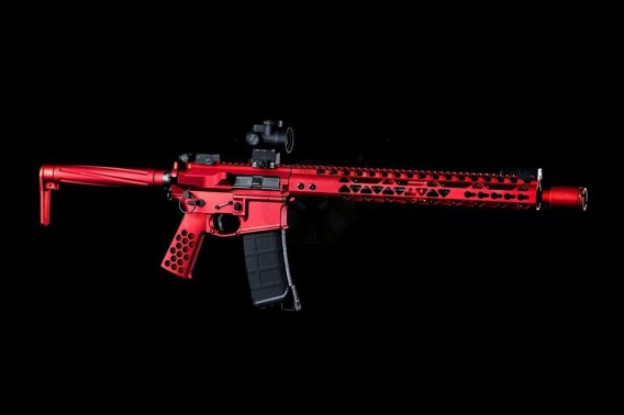AR-15 Micro Flash Can Anodized Red