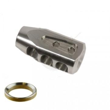 AR .308 CAL MULTI PORT STEEL COMPENSATOR STAINLESS STEEL