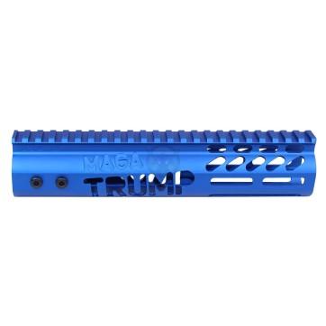 AR-15 'TRUMP MAGA SERIES' LIMITED EDITION 9″ FREE FLOATING M-LOK HANDGUARD (GEN 2) (ANODIZED BLUE)
