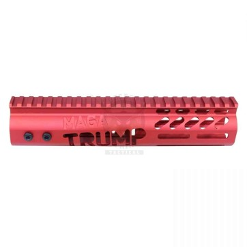 AR-15 'TRUMP MAGA SERIES' LIMITED EDITION 9″ FREE FLOATING M-LOK HANDGUARD (GEN 2) (ANODIZED RED)