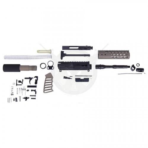 AR-15 5.56 Cal Complete Ultralight Pistol Kit FDE