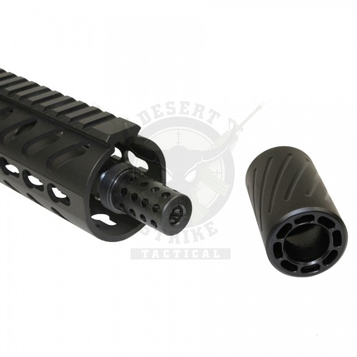 AR-15 MUZZLE COMP WITH QD BLAST SHIELD (9mm) (1/2 x 28)