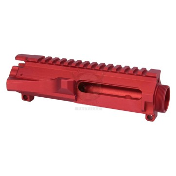AR-15 STRIPPED BILLET UPPER RECEIVER RED