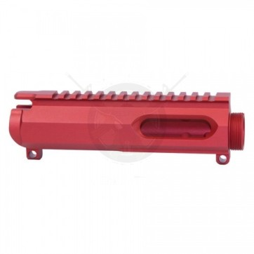 AR15 9MM STRIPPED BILLET UPPER RECEIVER RED