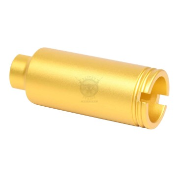 AR-15 Slim Line Cone Flash Can Anodized Gold
