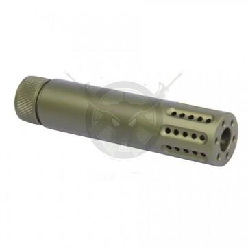 AR-15 SLIP OVER MULTI PORT SHROUD ANODIZED GREEN