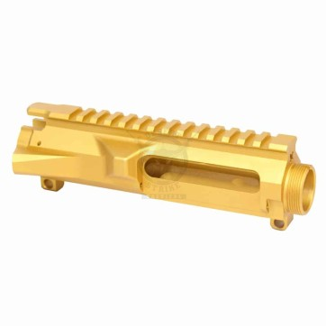 AR15 STRIPPED BILLET UPPER RECEIVER GOLD
