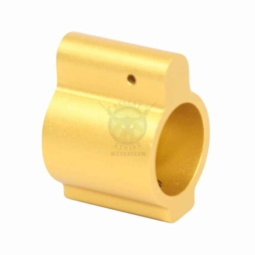.750 Low Profile Gas Block Gold