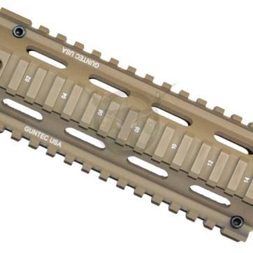 """AR15 2 Piece Quad Rail Zero Movement for 16"""" Carbine Dark Earth"""