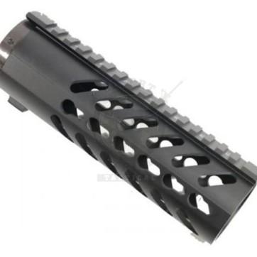 "7"" Free Float Keymod Handguard w/Sectional Side/Bottom Rail"
